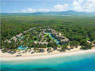 An aerial view of Zoëtry Agua Punta Cana.