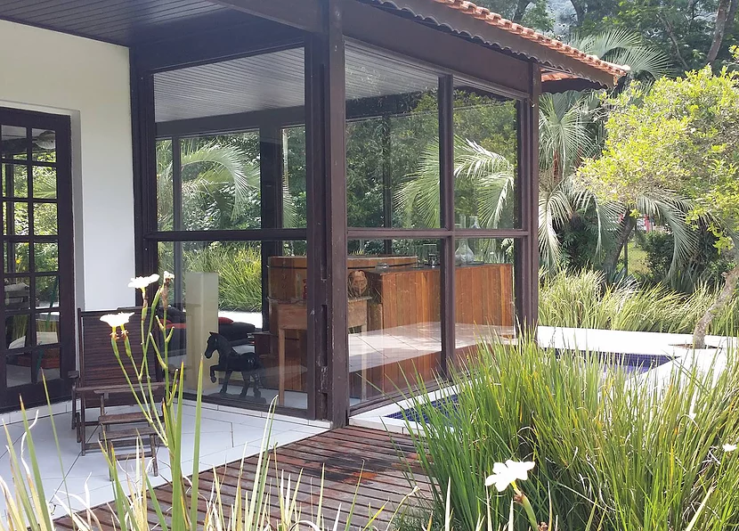 Casa da Fenix -  Vista sala do Ofurô